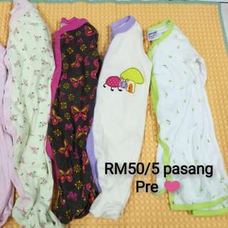 Baby romper 5 pasang (Preloved)