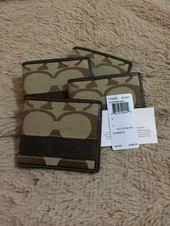 Coach Khaki/Mahogany Signature Men's Wallet
