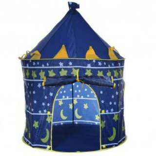 Tenda Bermain Anak Model Castle Kids Portable Tent - Blue