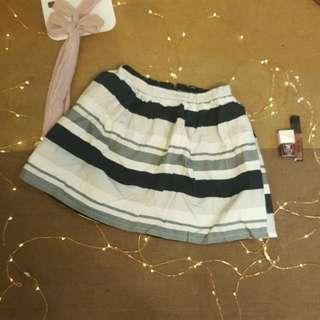 EMODA B&W Stripped A-Line Skirt from Japan