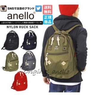 MOVING OUT SALES !  Model : AT-B1623 . Authentic Anello Nylon Rucksack .