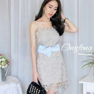 Sweet pastel lace dress
