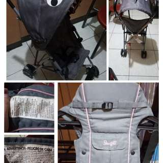 Baby stroller for 1yr old and carrier for months old  baby