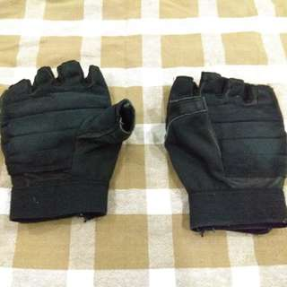 Half Leather Sport Gloves
