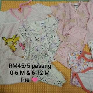 Baju baby set (4 pasang) Romper (1 pasang)