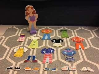 Melissa & Doug Magnetic Dress-Up Pretend doll