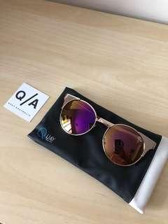 QUAY - Gold Asha Sunglasses