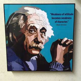 Pop Art Albert Einstein poster quote