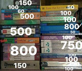 Nursing books- Take all available for 3,200 php