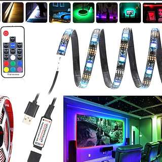 Multi colour remote controlled usb Led strip