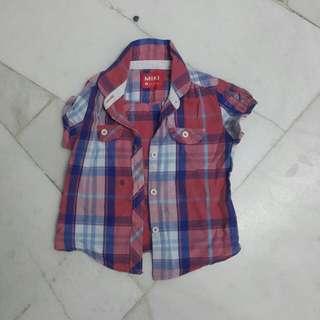 MIKI Checkers Shirt (Baby Girl) 24-30month