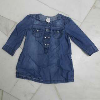 H&M Denim Blouse for baby girl (6-9Month)