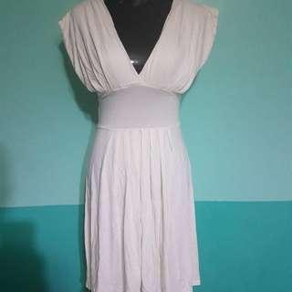 H&M Off White Glamorous Dress