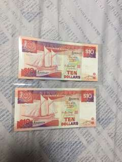 Ship series $10 notes