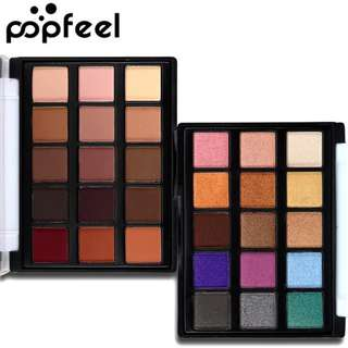 2017 Makeup Mini Eye Palette Shimmer and Matte Color Cosmetics Pigment 15 Color Warm Nude Popfeel Brand Matte Eyeshadow Palette