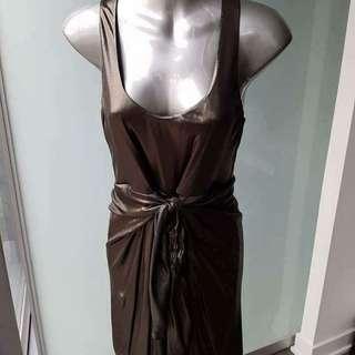 Halston Heritage Metallic Dress - Size 8