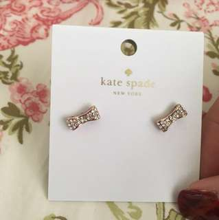 Kate spade ready set bow earings 耳環