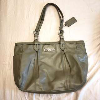 Coach Hand Bag - brown khaki colour