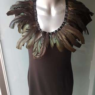 Brand new ASOS feather top - Size Medium