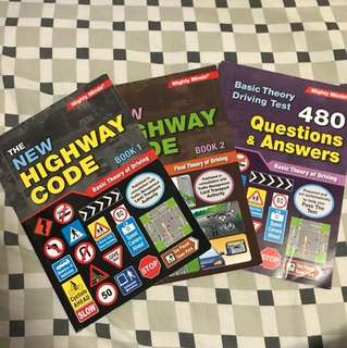 Singapore BTT Driving Books (3 for $15)
