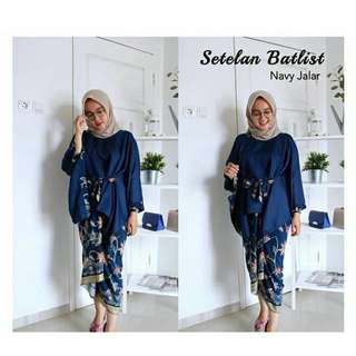 Batwing list batik set
