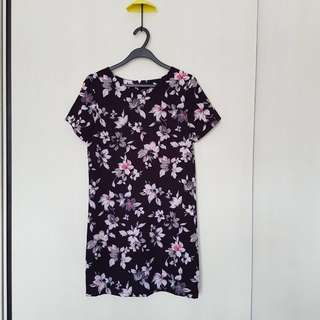 New Look Floral Shift Dress UK 8