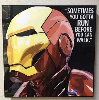 Pop Art Ironman poster quote