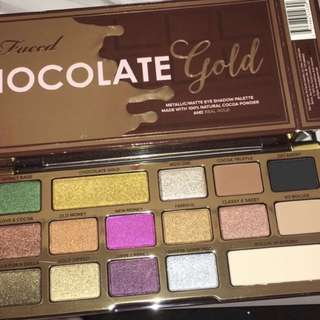 Brand new in box 100% authentic too faced gold pallete. Pigments is from 100% natural cocoa powder and real gold.