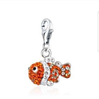 Clownfish Swarovski charm