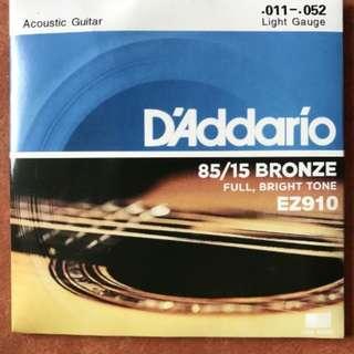 Senar Gitar Akustik D'addario EZ910 2015 murah 011-.052 USA