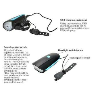 Bicycle Front Light with Horn