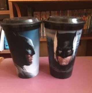 KFC Superman/Batman plastic tumbler (2)