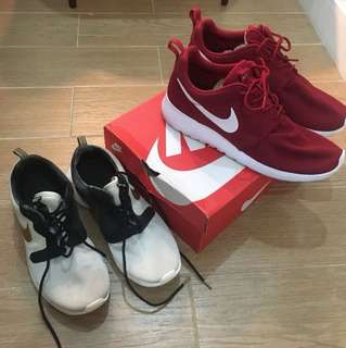 NIKE ROSHE ONE and GOLD TROPHY