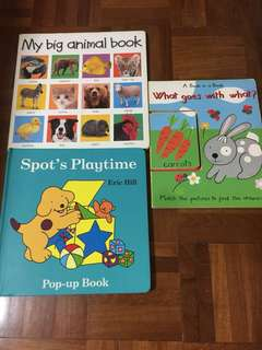 Set of 3 Big Board Books
