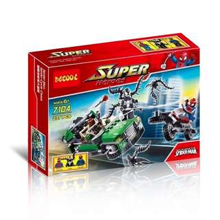 DECOOL 7104 Spider Man Spider Cycle Chase