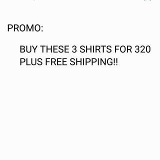 PROMO: 3 Shirts as Pack - FRE SHIPPING