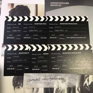 [WTT] Seventeen Director's Cut Business Card