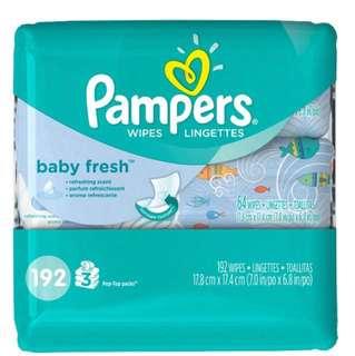 Pampers Baby fresh wipe 3 packs x 64wipes