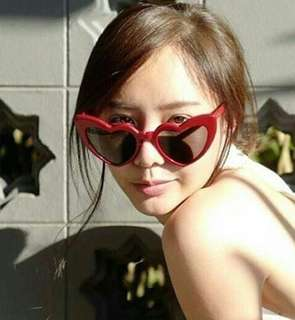 Heart Shaped Red Sunglasses