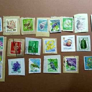 日本通用郵票22個