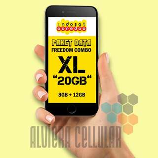 "PROMO Paket Data FREEDOM COMBO XL, ""20GB""/,Perdana Indosat"