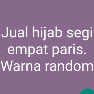 Hijab paris 10 pcs warna randem