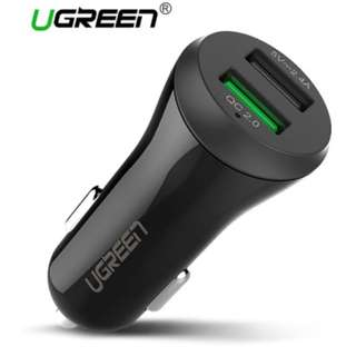 Ugreen Car USB Charger Quick Charge 2 Port