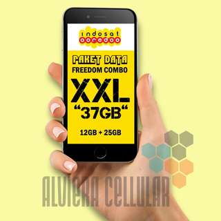 "PROMO Paket Data FREEDOM COMBO XXL, ""37GB""/,Perdana Indosat"