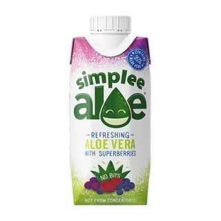 3 x Simplee Aloe Superberries 330ml juice