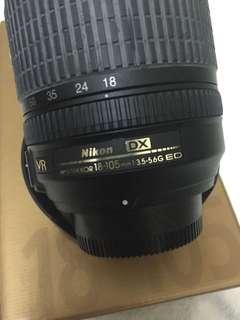 Nikon 18-105 vr lens