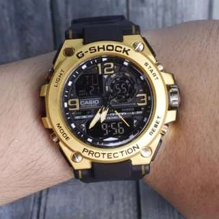 G Shock Metal Besi Black Gold