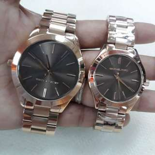 Mk Couple Slimrunway⌚⌚ 36mm & 42mm  💯Percent Pawnable  💯Percent Authentic ✔US GRADE ORIGINAL✔  Couple Price : 4,600.00  Comes With : ✔Mk Hardbox ✔Mk Paperbag ✔Manual ✔Serial Number