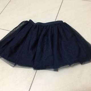 H&M diamond blue tutu skirt