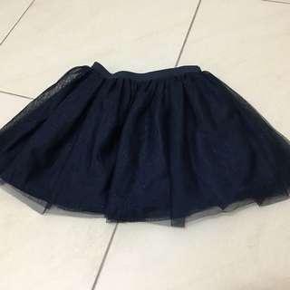 H&M diamond blue tutu skirt